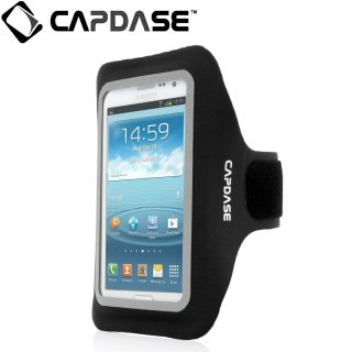 【ジョギングに最適なケース】 CAPDASE Sport Armband Zonic Plus 155A for 5.7 inch  Black/Black