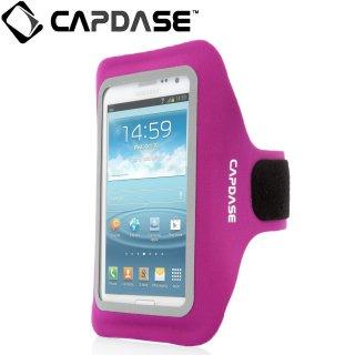【ジョギングに最適なケース】 CAPDASE Sport Armband Zonic Plus 155A for 5.7 inch  Fuchsia