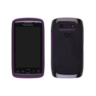【RIM純正の2種の素材を使ったケース】 BlackBerry Torch 9850/9860 Premium Skin  Black/Royal Purple