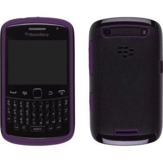 【RIM純正の2種の素材を使ったケース】 BlackBerry Curve 9350/9360/9370 Premium Skin  Black/Royal Purple