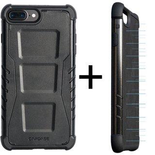 【CAPDASE iPhone7 Plus ケース アーマースーツ】CAPDASE Armor Suit - Combo Rider Jacket + Newton Cover Black