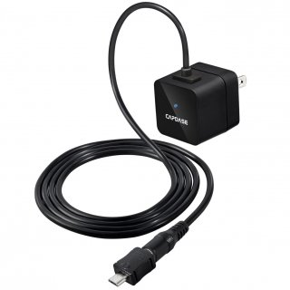 【microUSB充電器】CAPDASE Universal Power Adapter Atom-micro USB  Black (PSE マーク付き)