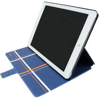【iPad Air 2 変形するケース】 ahha iPad Air 2 Dual Face Flip Case SYKES MIX  Blue Checker/Space Grey