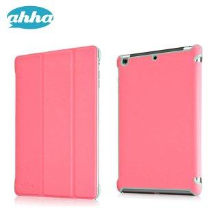 【スタンド機能付きの軽量なスリムケース】 ahha iPad mini 3/2/1 トーレ  ピンク/ターコイズ