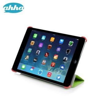 【スタンド機能付きの軽量なスリムケース】 ahha iPad mini 3/2/1 トーレ  グリーン/オレンジ