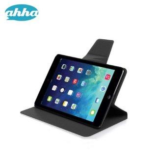 【スタンド機能付き】 ahha iPad mini 3/2/1 スリムタイプケース ザキ  ブラック/ブラック