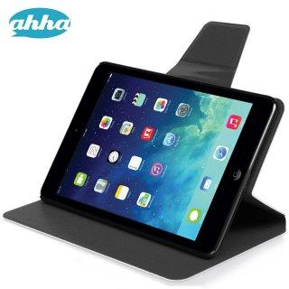 【スタンド機能付き】 ahha iPad mini 3/2/1 スリムタイプケース ザキ  ホワイト/グレー