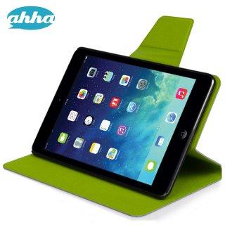 【スタンド機能付き】 ahha iPad mini 3/2/1 スリムタイプケース ザキ  パープル/グリーン