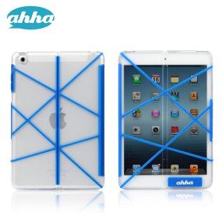 【スタンド機能付きクリアーケース】 ahha iPad mini 3/2/1 アッザーロ  コバルト・ブルー