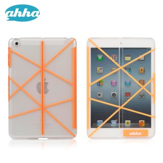 【スタンド機能付きクリアーケース】 ahha iPad mini 3/2/1 アッザーロ  スパーク・オレンジ