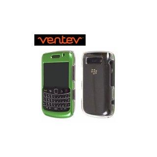 【2種の素材を使ったケース】 Ventev BlackBerry Bold 9780/9700 Aluminum & Acrylic fiber Case  Green/Clear
