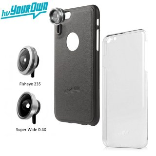 【iPhone6s/6 ケース】 hvYourOwn iPhone 6s/6 GoLensOn Case QUICK-IN PHOTO KIT レンズ装着ケース(魚眼+ワイド)