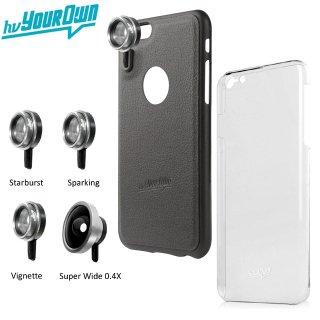【iPhone6s/6 ケース】 hvYourOwn GoLensOn Case QUICK-IN PHOTO KIT レンズ装着ケース(4種類)  ブラック
