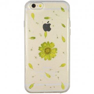 【iPhone6s/6 ケース ドライフラワー封入】 GauGau iPhone6s/6  Dried Flower TPU Soft Clear Case  Daisy