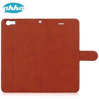 【iPhone6s Plus/6 Plus ケース 手帳型 スタンド機能付き】 ahha iPhone6s Plus/6 Plus  KIM Flip Case  Spark Orange
