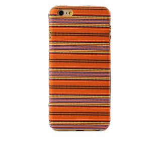 【iPhone6s Plus/6 Plus ケース エスニック調】 iPhone6s Plus/6 Plus  Knitting Style Rear Cover Case  Orange