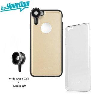 【iPhone6s Plus/6 Plus ケース】 hvYourOwn GoLensOn Case PHOTO KIT レンズ装着ケース(ワイド+マクロ)  ゴールド