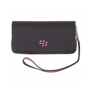 【RIM純正のポーチタイプケース】 BlackBerry Pearl 3G 9100/9105 Leather Folio Pouch with Strap  Black