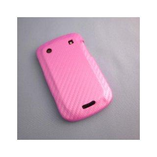 【カーボン調ハードケース】 GauGau docomo BlackBerry Bold 9900/9930 Hard Rear Cover  Pink