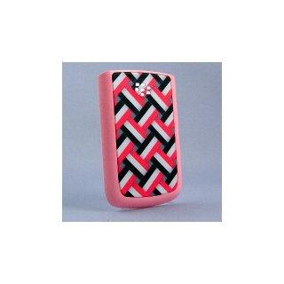BlackBerry Bold 9780/9700 Battery Door  Knitting Basket Motif A  Matt Pink