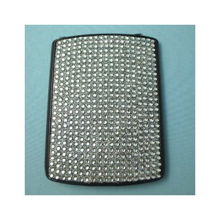 docomo BlackBerry Curve 9300 Battery Door  Decorative Jewel Silver