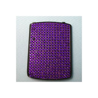 docomo BlackBerry Curve 9300 Battery Door  Decorative Jewel Purple