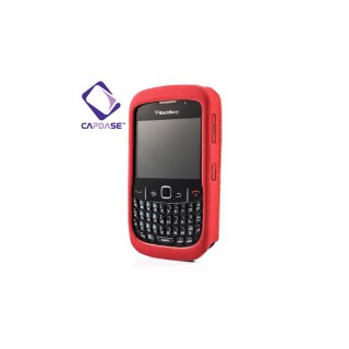 【伸縮性素材のソフトケース】 CAPDASE BlackBerry Curve 9300 Flexible Protective Case 「Zuede」  Red
