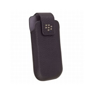 【RIM純正ホルスターケース】 BlackBerry Pearl 3G 9100/9105 Leather Holster with Swivel Belt Clip  Black