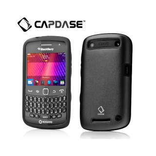 【アルミとシリコンの2層構造ケース】 CAPDASE BlackBerry Curve 9350/9360/9370 Alumor Metal Case  Black