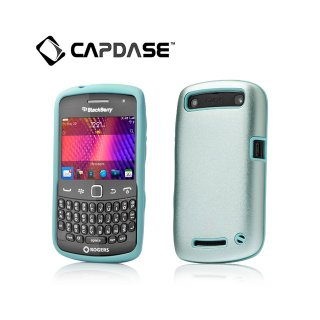 【アルミとシリコンの2層構造ケース】 CAPDASE BlackBerry Curve 9350/9360/9370 Alumor Case  Light Blue