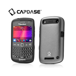 【アルミとシリコンの2層構造ケース】 CAPDASE BlackBerry Curve 9350/9360/9370 Alumor Metal Case  Grey