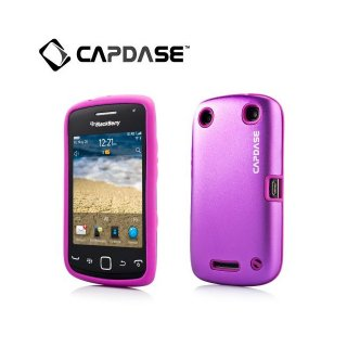 【アルミ合金とシリコンの2層構造ケース】 CAPDASE BlackBerry Curve 9380 Alumor Metal  Purple