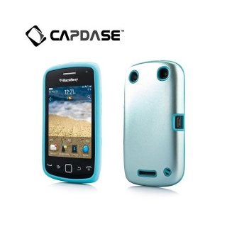 【アルミ合金とシリコンの2層構造ケース】 CAPDASE BlackBerry Curve 9380 Alumor Metal  Light Blue