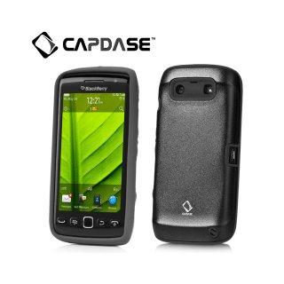 【アルミ合金とシリコンの2層構造ケース】 CAPDASE BlackBerry Torch 9850/9860 Alumor Metal Case  Black