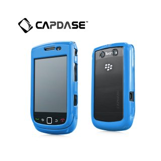 【2種の素材を使ったケース】 CAPDASE BlackBerry Torch 9800/9810 Clear/Solid Blue