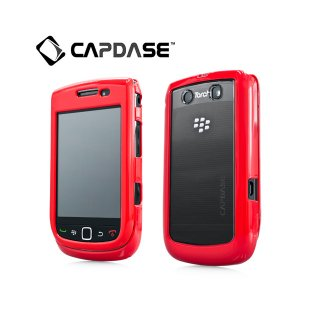 【2種の素材を使ったケース】 CAPDASE BlackBerry Torch 9800/9810 Clear/Solid Red