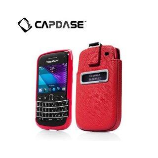 【ソフト&ポケットケースのセット】 CAPDASE BlackBerry Bold 9790 Smart Pocket Value Set  Red