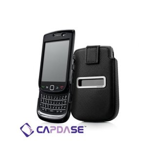 【ソフト&ポケットケースのセット】 CAPDASE BlackBerry Torch 9800/9810 Value Set  Black/Black
