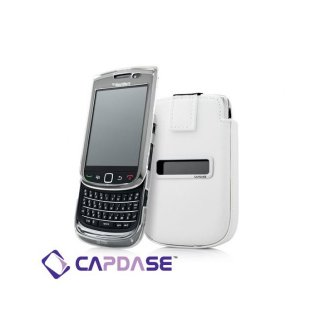 【ソフト&ポケットケースのセット】 CAPDASE BlackBerry Torch 9800/9810 Value Set  White/Clear