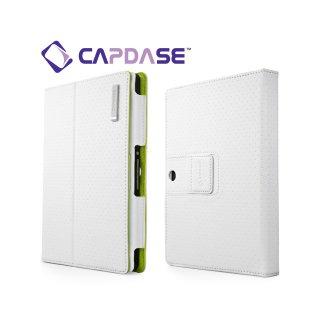 【スタンド機能付きケース】 CAPDASE BlackBerry PlayBook/PlayBook 4G LTE FolioDot  White/Green