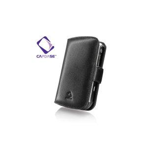 【手帳型レザーケース】 CAPDASE BlackBerry Tour 9600/9630 Leather Case Bi-fold  Black