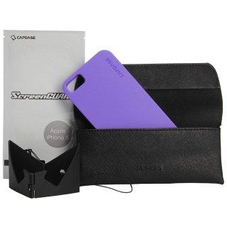 【定番のソフトケース】 CAPDASE iPhone SE/5s/5 用 Soft Jacket 2 XPOSE  Solid Purple