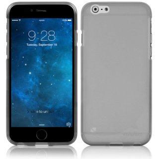 【iPhone6s Plus/6 Plus ケース やわらかく ハリのある 半透明 TPU素材製】 ahha Gummi Shell Case MOYA  Clear Black