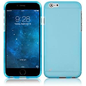 【iPhone6s Plus/6 Plus ケース やわらかく ハリのある 半透明 TPU素材製】 ahha Gummi Shell Case MOYA  Clear Blue
