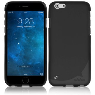 【iPhone6s Plus/6 Plus ケース やわらかく ハリのある TPU素材製】 ahha Gummi Shell Case MOYA  Solid Black