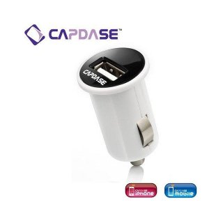 【コンパクトなサイズの車載用充電器CAPDASE Single USB Car Charger : Pico  White