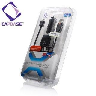 CAPDASE 自動車シガレットソケット用 USB コンセント と Micro USB ケーブルセット! BlackBerry / HTC 用