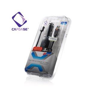 CAPDASE 自動車シガレットソケット用 USB コンセント と Micro USB ケーブルセット! Samsung 用