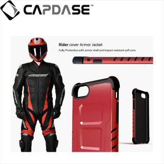 【CAPDASE iPhone7 Plus ケース アーマースーツ】CAPDASE iPhone7 Plus Armor Suit Rider Jacket Jet Black