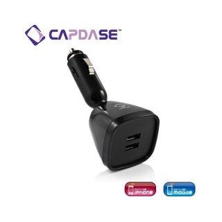 CAPDASE Dual USB Car Charger : Joystick  Black
